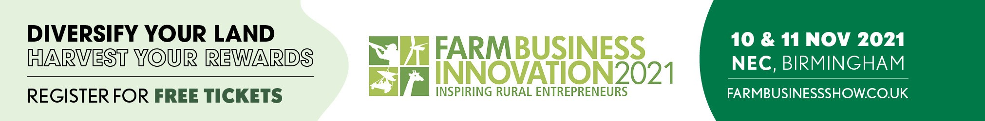 Farm business innovation show at the NEC in Birmingham banner